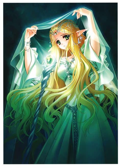 princess zelda hair elven medieval manga girl art pinterest long