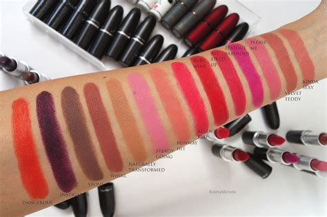 mac matte lipstick swatches mac the matte lip collection review photos swatches