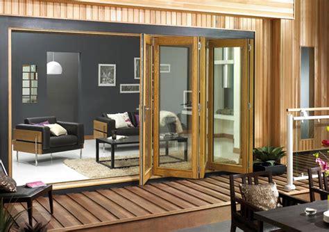 external bi folding oak doors vufold doorsets
