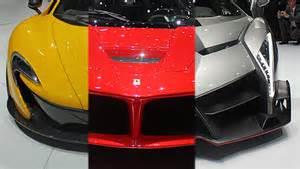 Lamborghini Aventador Vs Laferrari Mclaren P1 Vs Lamborghini Veneno Vs Laferrari A