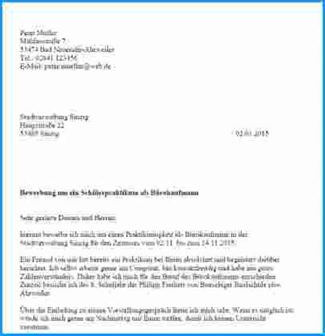 Bewerbung Anschreiben Praktikum Kindergarten 8 Bewerbung Praktikum Sch 252 Ler 8 Klasse Rechnungsvorlage