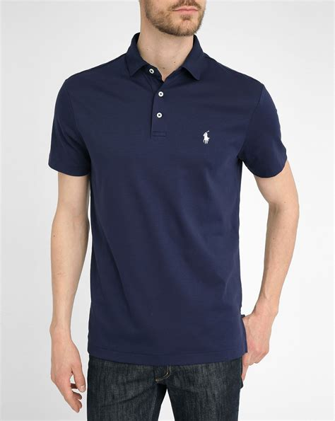 Ralph Poloshirt by Polo Ralph Navy Jersey Polo Shirt In Blue For