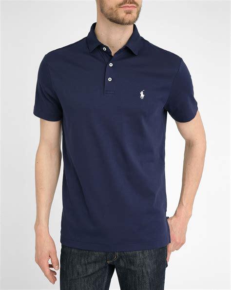 polo shirt polo ralph navy jersey polo shirt in blue for