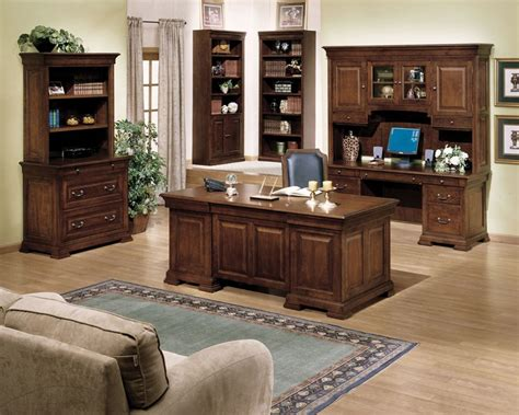 my home furniture and decor rustic theme of elegant office furniture which is installed at contemporary home office equipped