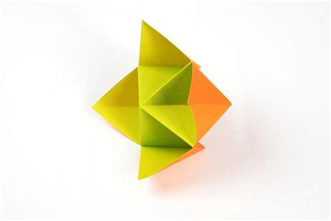 Origami Fortune - origami fortune teller photograph by photo researchers inc
