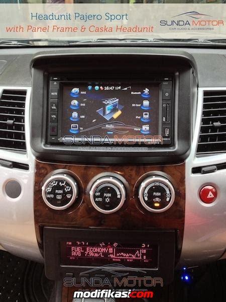 Frame Tv Mobil Panel Tv Mobil Pajero Sport Headunit Mitsubishi Pajero Sport Smart Multimedia Gps