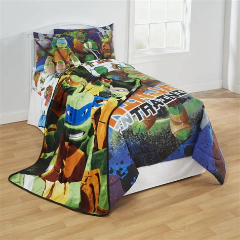ninja turtle comforter nickelodeon teenage mutant ninja turtles plush blanket