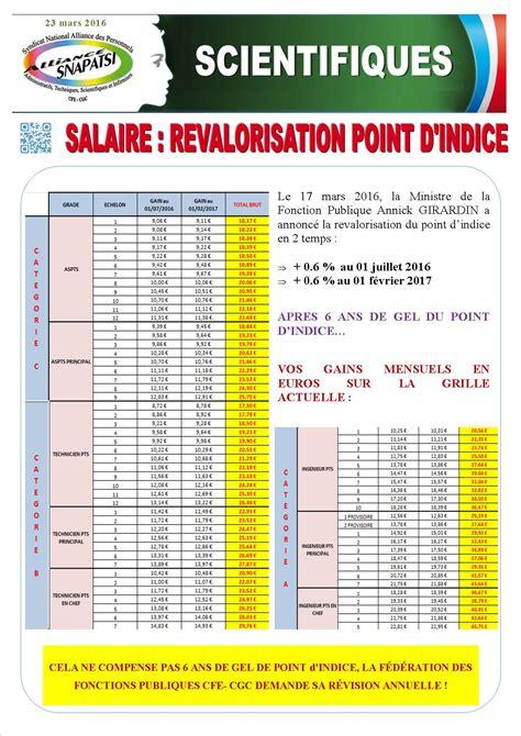 revalorisation point fonctionnaire 2016 grille salaire fph grille indiciaire 2016 technicien fpe