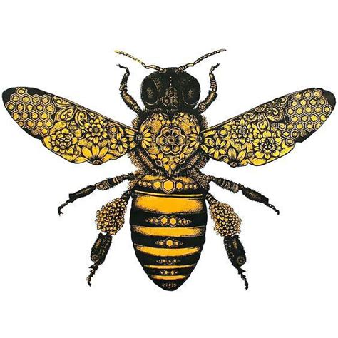 amazing bee tattoo design