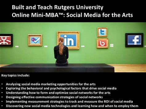 Rutgers Mini Mba Social Media Marketing by Lification Academy Presentation Liberal Arts Education