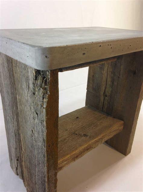 Concrete Side Table Concrete Top Barn Wood Side Table Rebornbarns