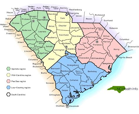 carolina map with cities sc counties select south carolina county by name sc