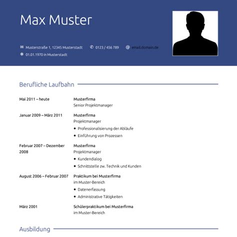 Lebenslauf Muster Projektmanager Muster Square Bewerbung Co
