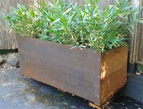 Custom Planter Box by Bamboo Services Bamboo Sourcery Nursery Gardens