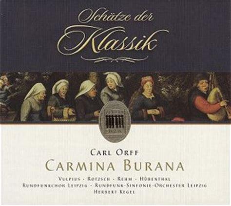 carmina burana best recording orff carmina burana 0014372bc gf classical cd reviews