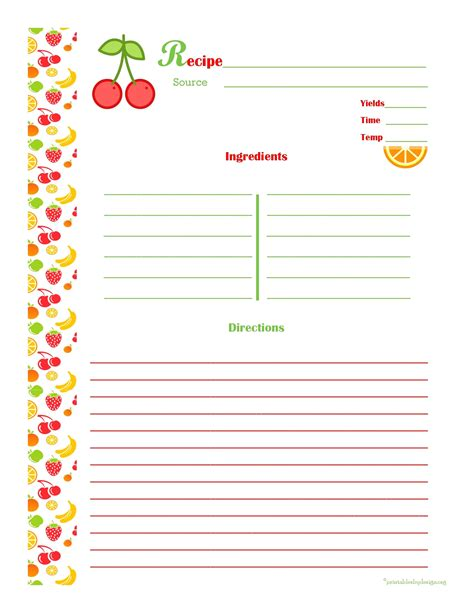 recipe card template for word luxury free printable brochure maker downloadtarget
