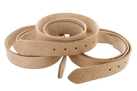 cowhide leather belt blanks with adjustment holes