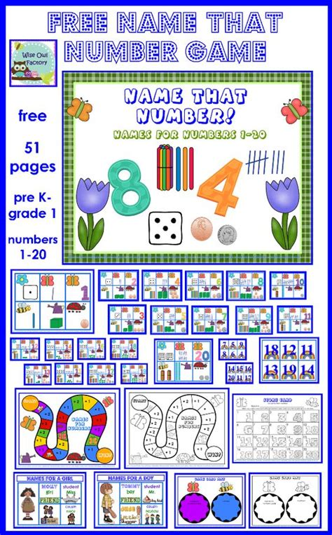 spring themed names number names match 1 20 spring theme free pdf freebies