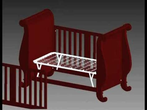bratt decor assembly video chelsea sleigh crib youtube