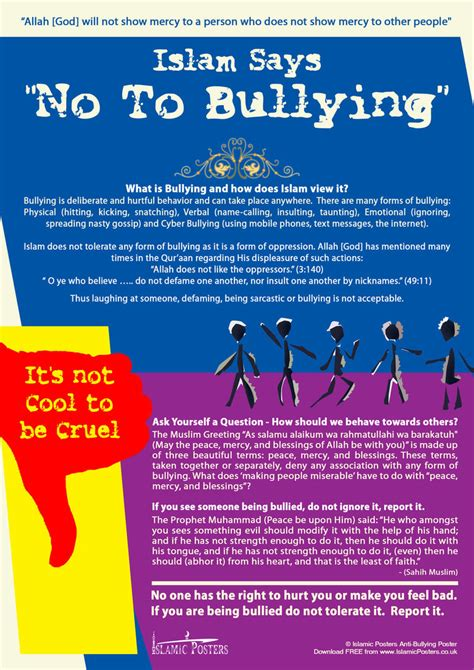 Says No To by Islam Says No To Bullying By Billax On Deviantart