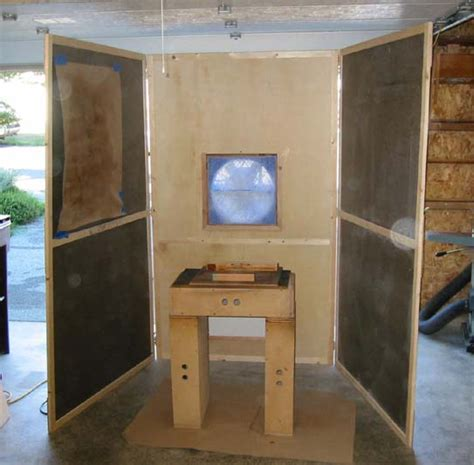 woodworking spray booth shop tour
