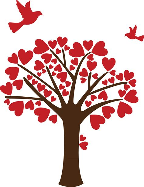 Tree Of Life Wall Sticker tree of hearts romantic wall decal home decor india by
