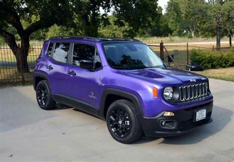 purple jeep renegade purple dip it dip it jeeps