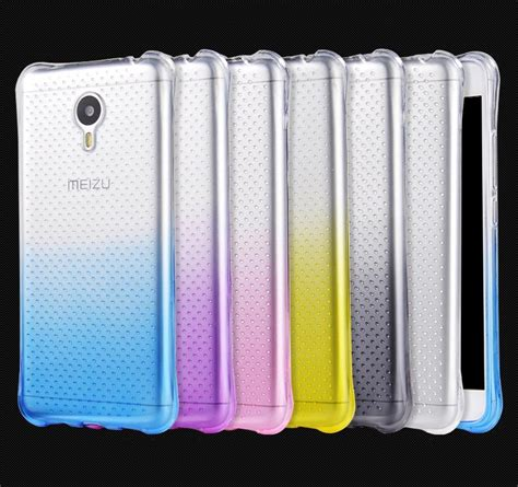 Silicon Casing Softcase Meizu M3 Note colorful gradual change style soft silicon protective back for meizu m3 note