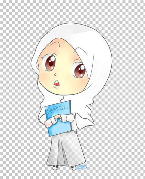 keren  gambar kartun muslimah karate richa gambar