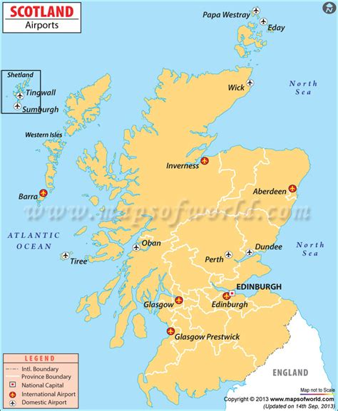 map of scotland and airports in scotland scotland airports map