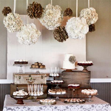 bridal shower dessert table juneberry burlap lace a simple vintage dessert