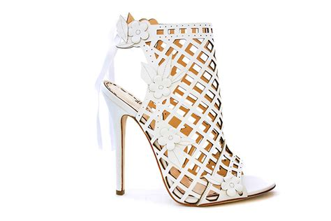 Designer White Wedding Shoes by Standout Wedding Shoes From New York Bridal Fashion Week