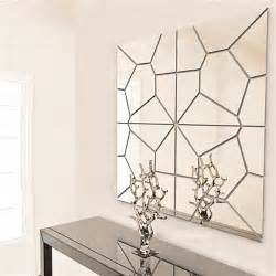 Wall Mirror Stickers 7pcs 2 Colors Geometry Mirror Wall Sticker Moire Pattern
