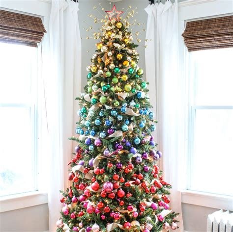 27 rainbow christmas tree decoration ideas christmas
