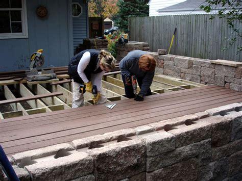 Deck Building Diy And Maintenance Diy Composite Patio Pavers