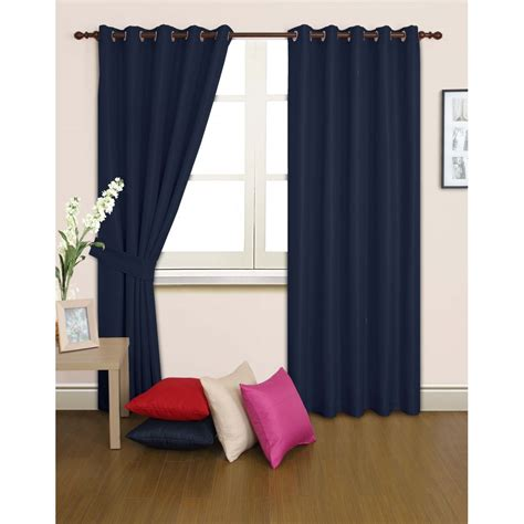 Blackout Navy Curtains Buy Navy Blue Blackout Curtains Many Other Designs Are Available