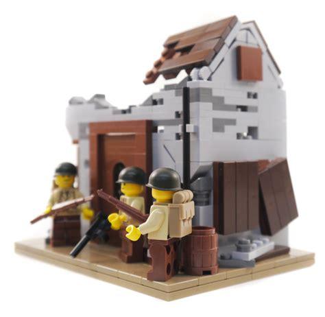 lego ww2 tutorial purchase custom lego instructions wwii ruined barn