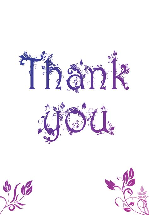 thank you card picture template decorated thank you card thank you card template free