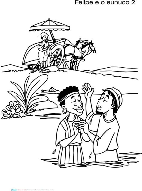 ethiopian eunuch coloring page coloring home
