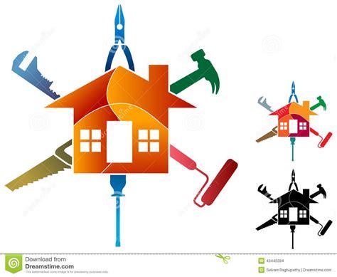 work from home logo design house work logo stock vector image 43445394