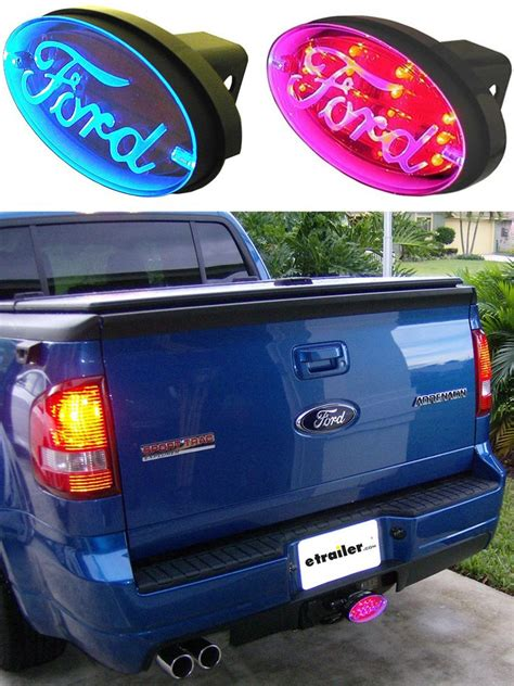 lighted hitch covers trucks ford brake and tail light l e d trailer hitch cover