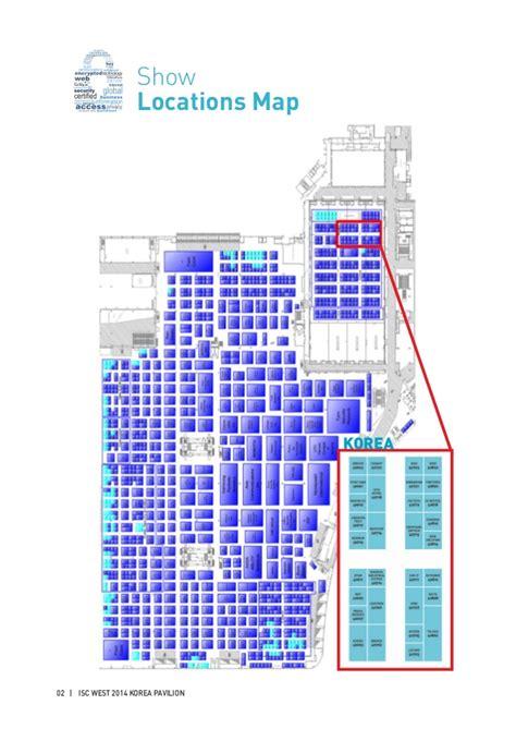 isc west floor plan isc west 2014 korea pavilion directory