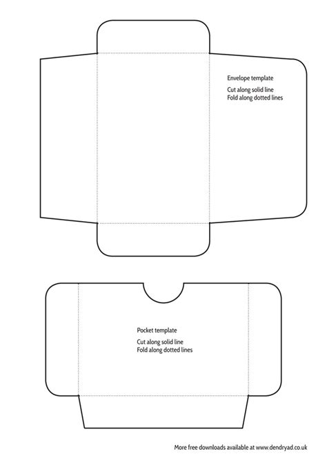 mini envelope and pocket templates printable dendryad art