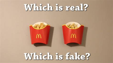 Is Real by Test Which Is Real Mcdonald S Fries Drawing