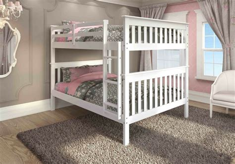 full  full mission bunk bed white ebay