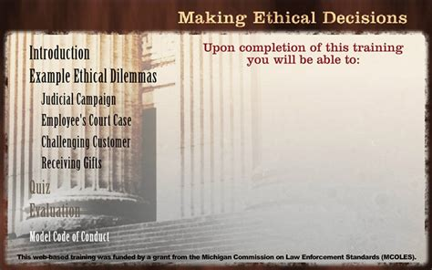 model jury instructions michigan making ethical decisions