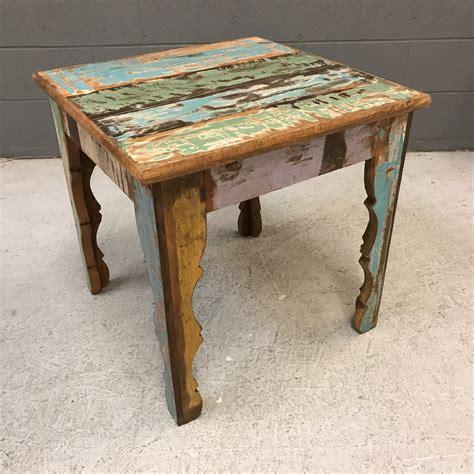 wood side table reclaimed wood side table nadeau nashville