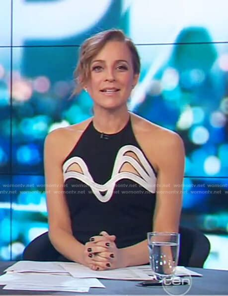 Carrie Bickmore Wardrobe by Wornontv Carrie S Black Sleeveless Cutout Dress On The Project Carrie Bickmore Clothes And
