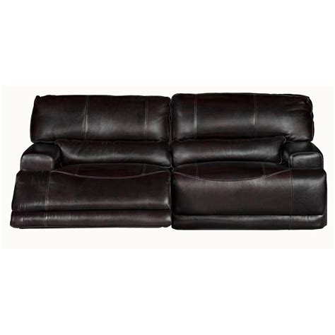 Power Reclining Sofa Leather Stede 91 Quot Blackberry Leather Match Power Reclining Sofa