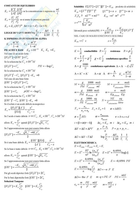 test di chimica generale chimica il formulario